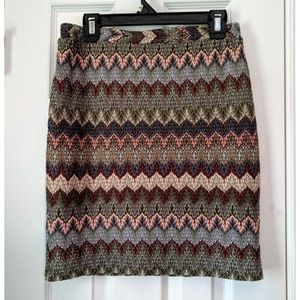 Gently Used Melissa Paige Multi Color Skirt Sz PM